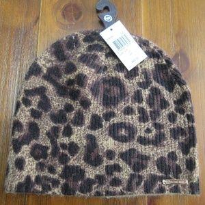 Michael Kors Women's Leopard Print Beanie Hat